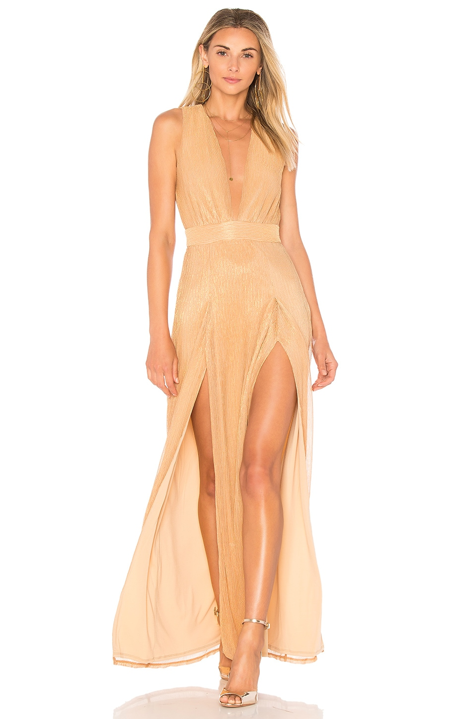 Lovers + Friends Naomi Gown in Rose Gold