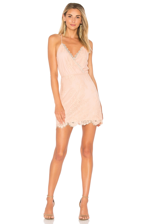 Lovers + Friends Art Deco Dress in Nude | REVOLVE