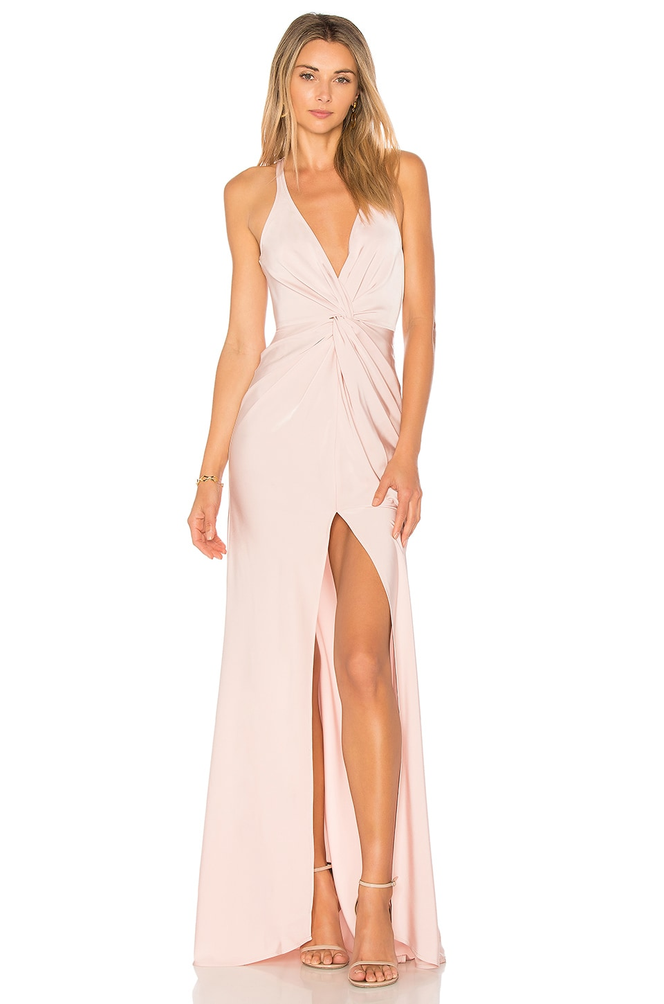 Lovers + Friends Xael Gown in Rose