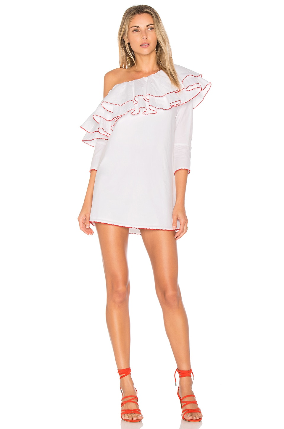 Lovers + Friends x REVOLVE Ruffle Dress in White