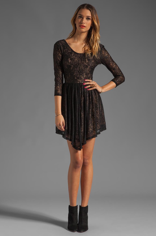 Lovers + Friends Senorita Mini Dress in Black Lace
