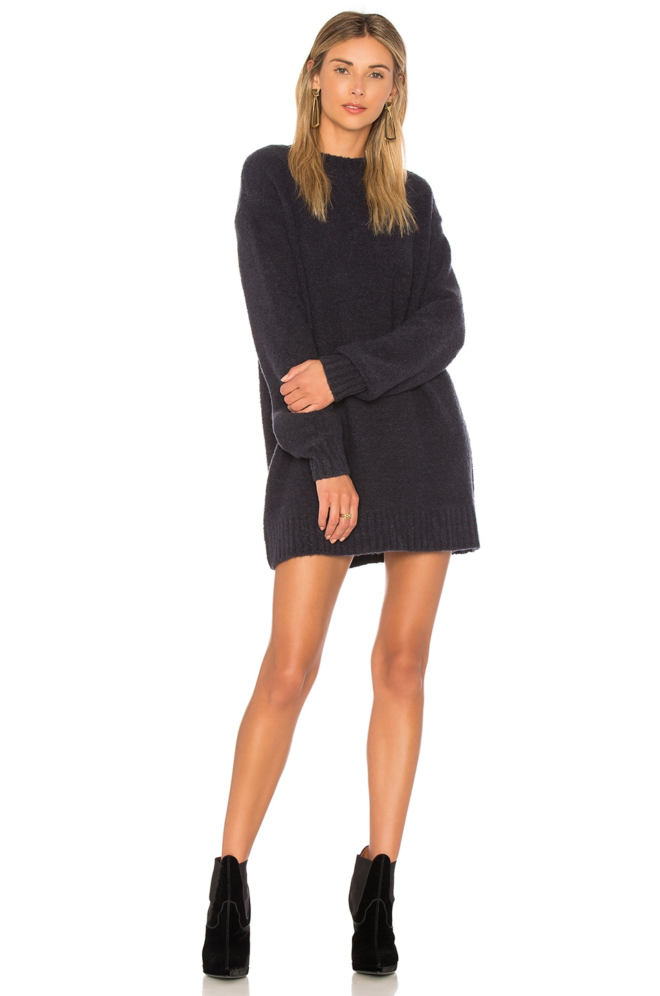 Lovers + Friends Suki Sweater Dress in Navy