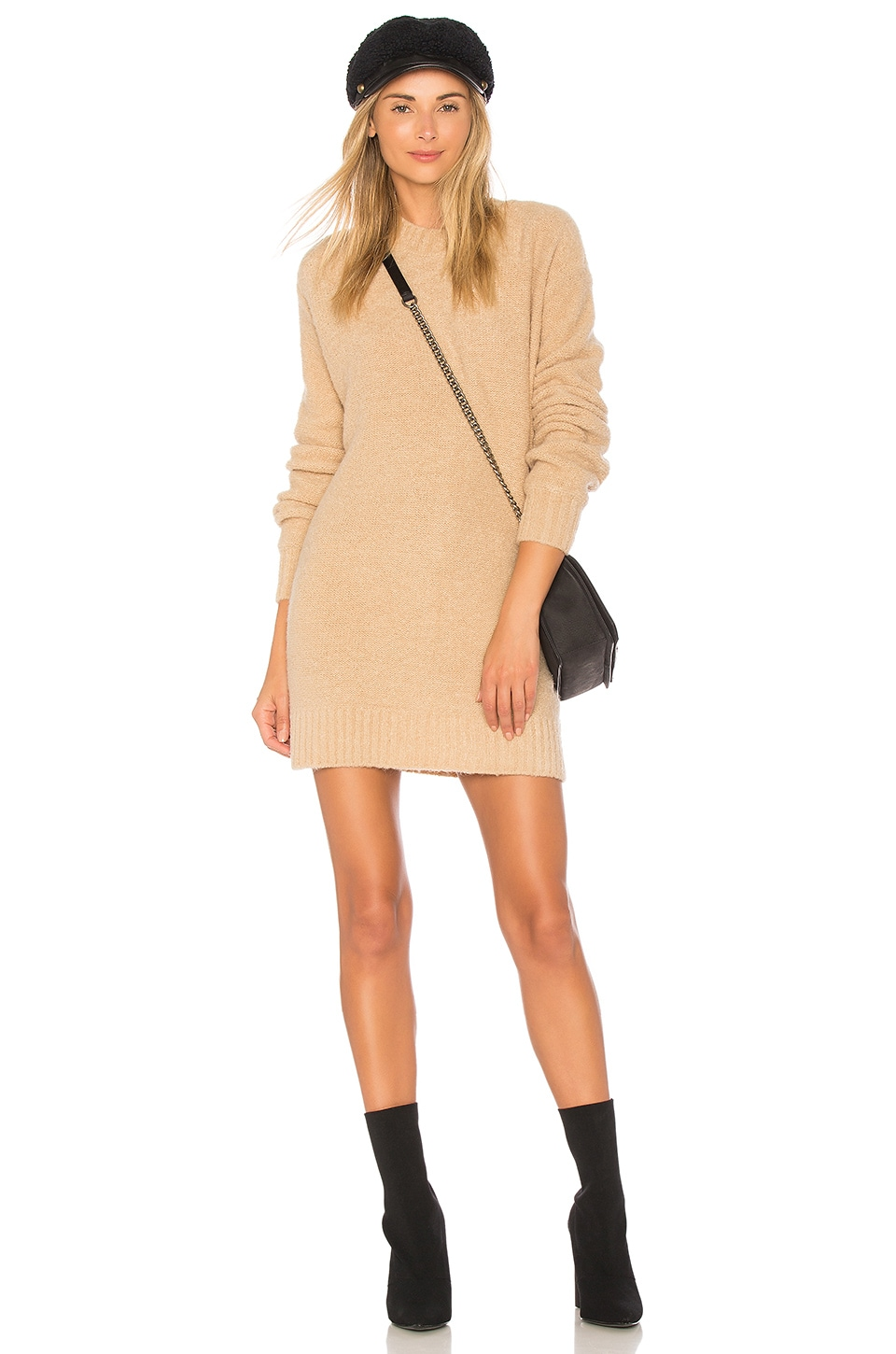 Lovers + Friends Suki Sweater Dress in Taupe