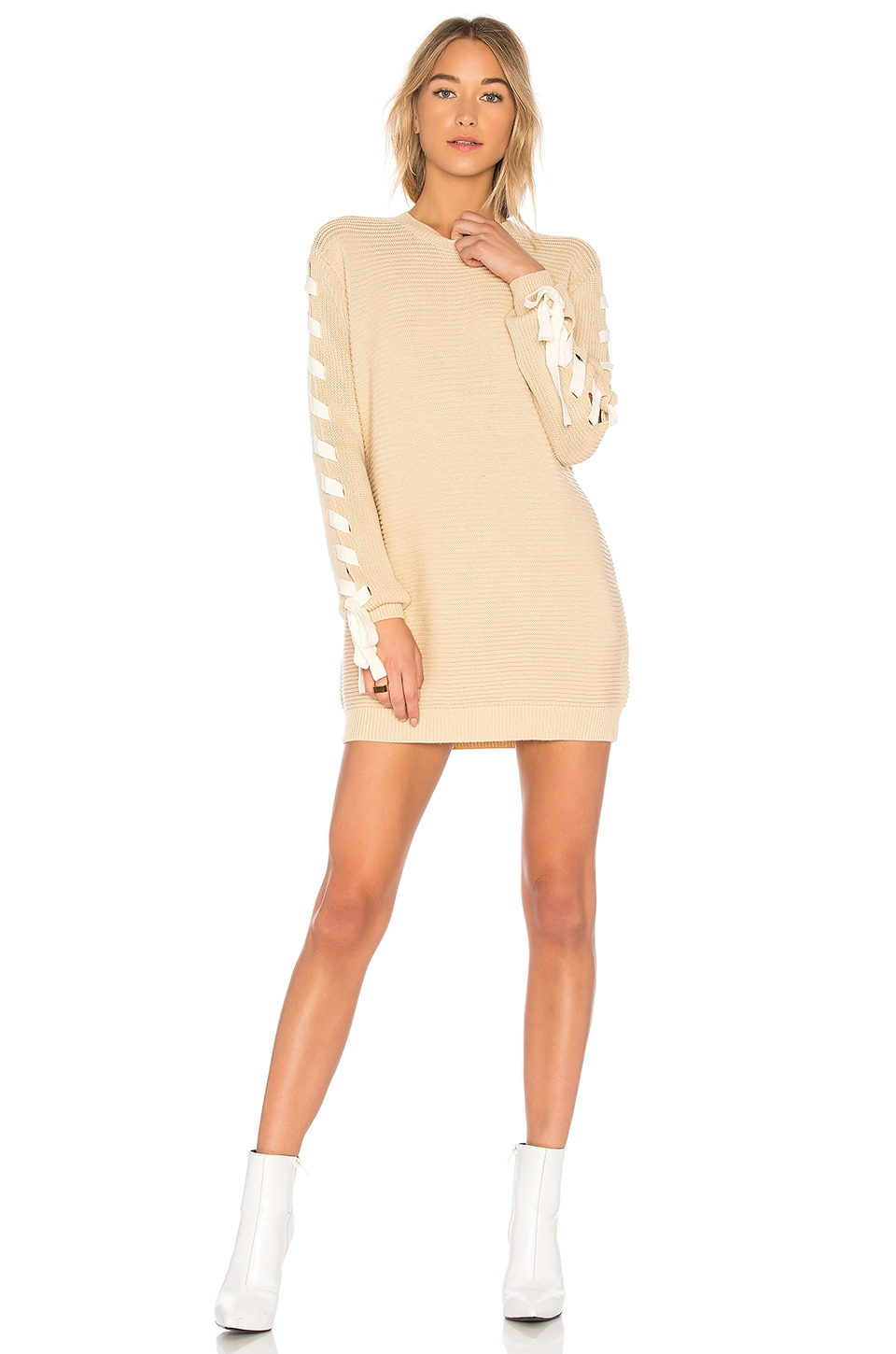 Lovers + Friends x REVOLVE Madison Dress in Cream & White