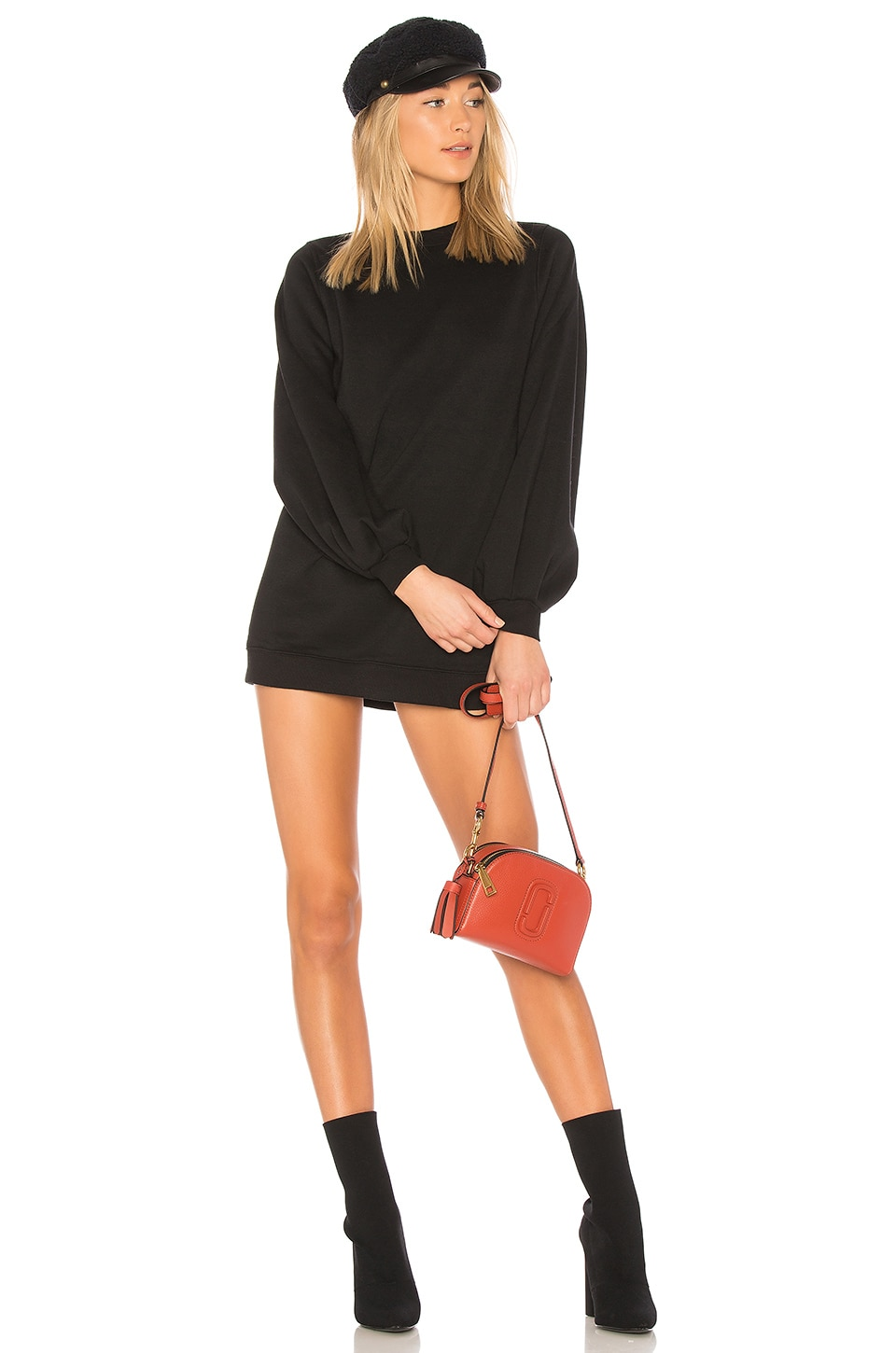 Lovers + Friends Jessa Sweatshirt Dress in Black