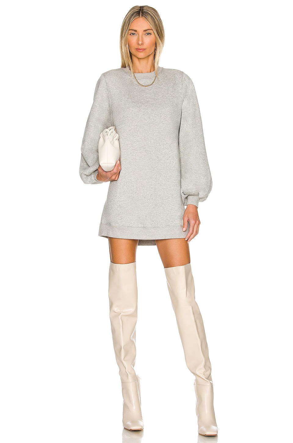 Lovers + Friends Jessa Sweatshirt Dress in Charcoal