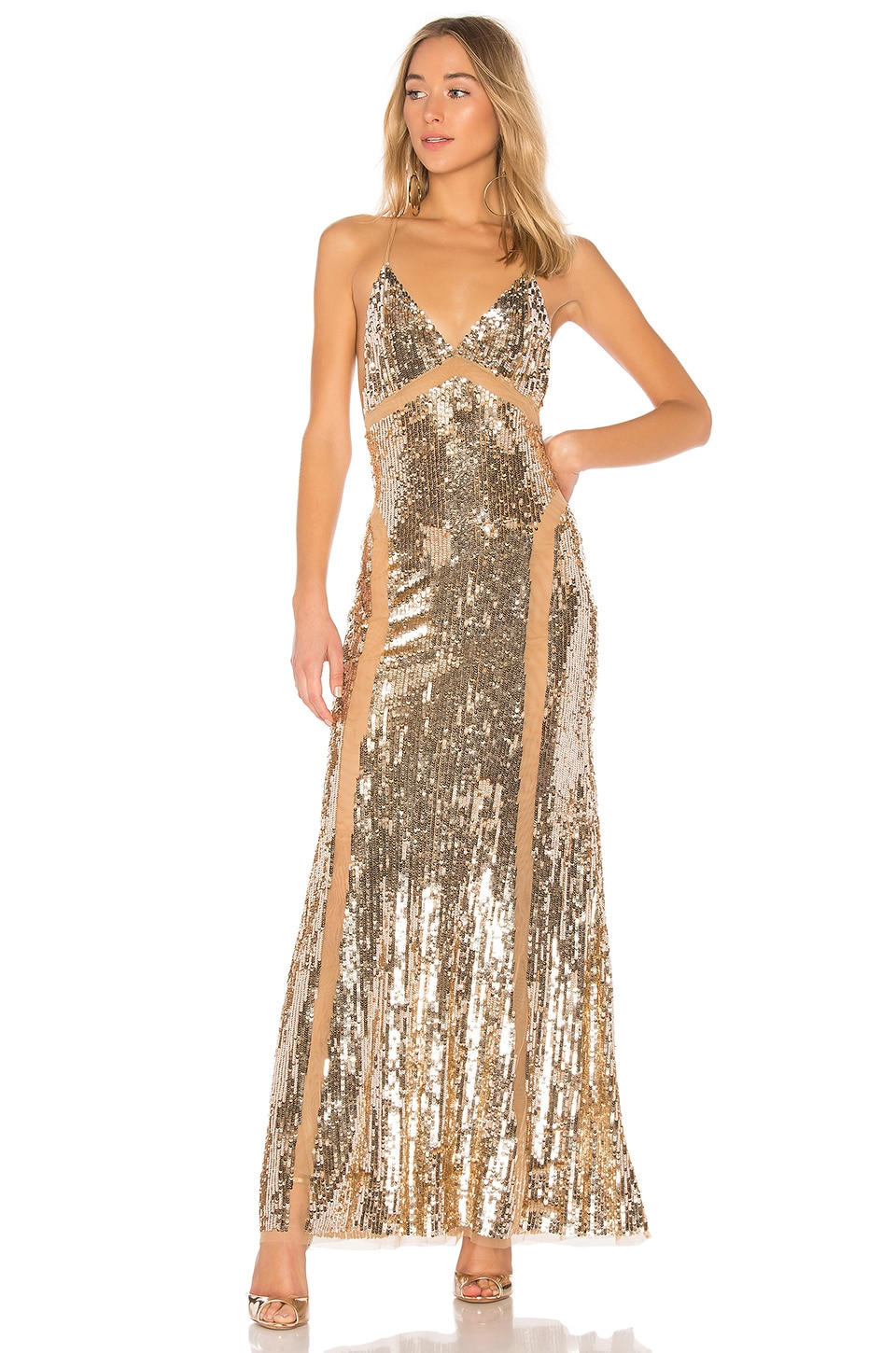 Lovers + Friends ROBE DE SOIRÉE AVEC SEQUINS LOYAL