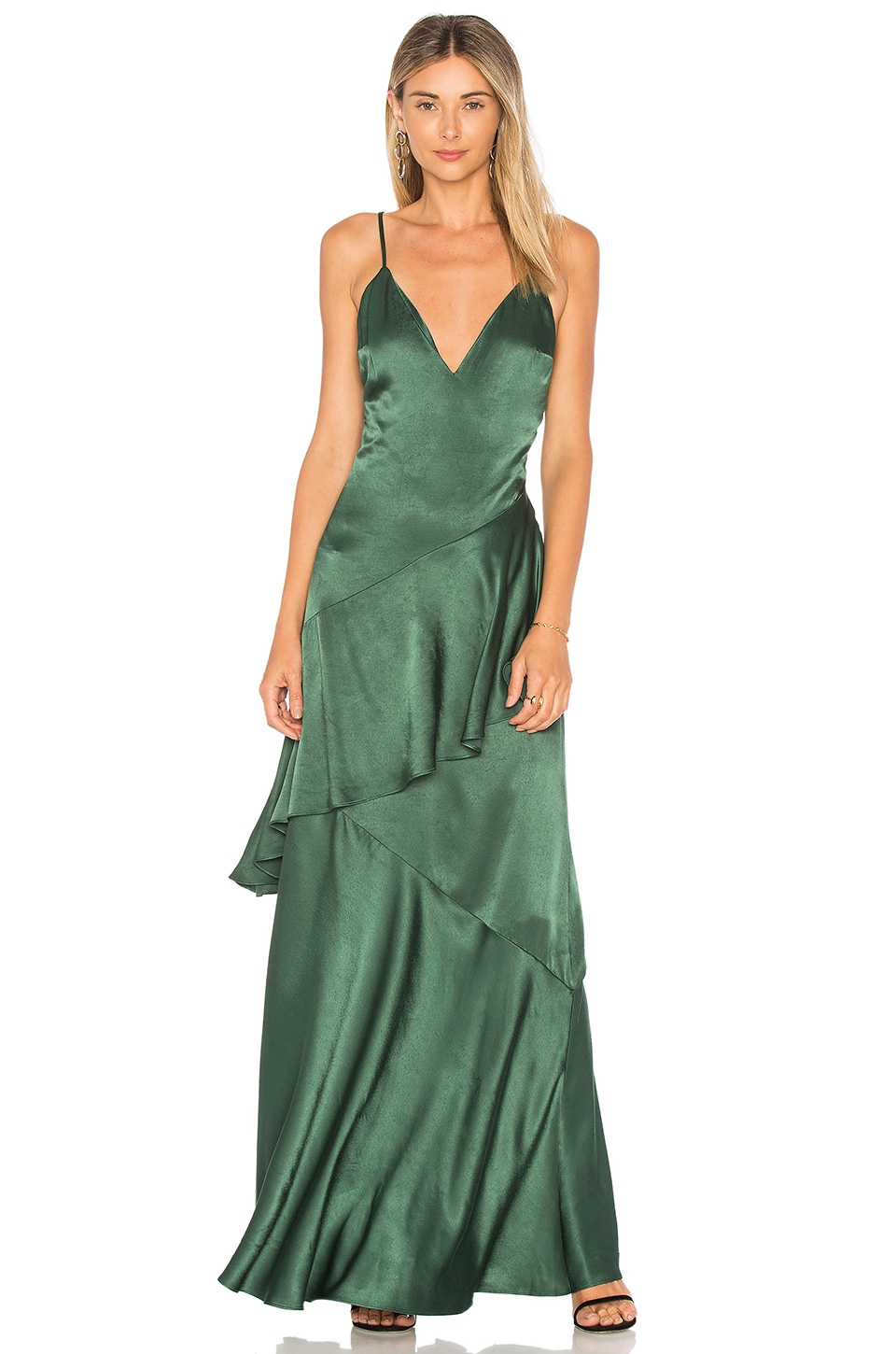 Lovers + Friends Coralie Dress in Emerald