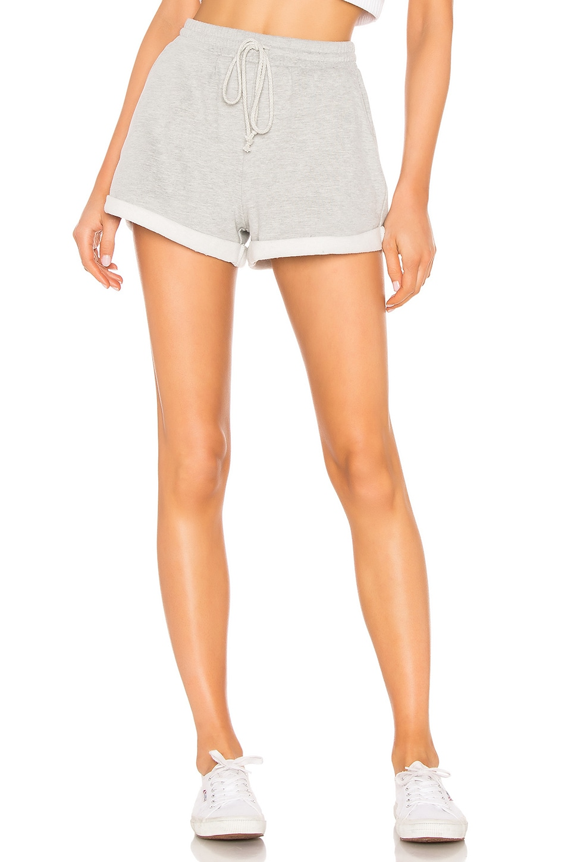 Lovers + Friends Kali Sweat Shorts in Heather Grey