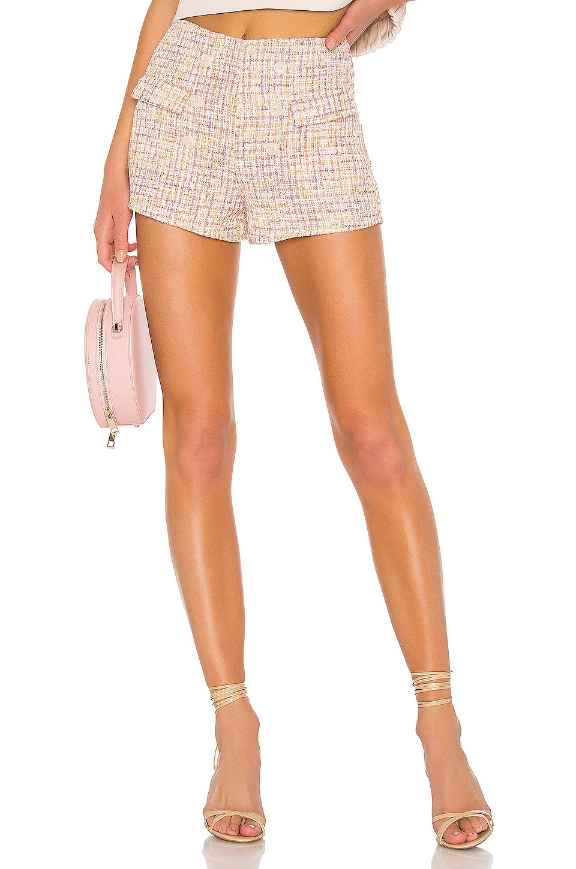 Lovers + Friends Noela Shorts in Pink Tweed