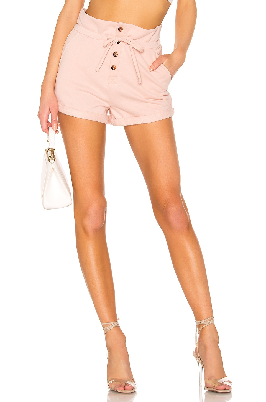 Lovers + Friends Meghan Sweat Shorts in Blush