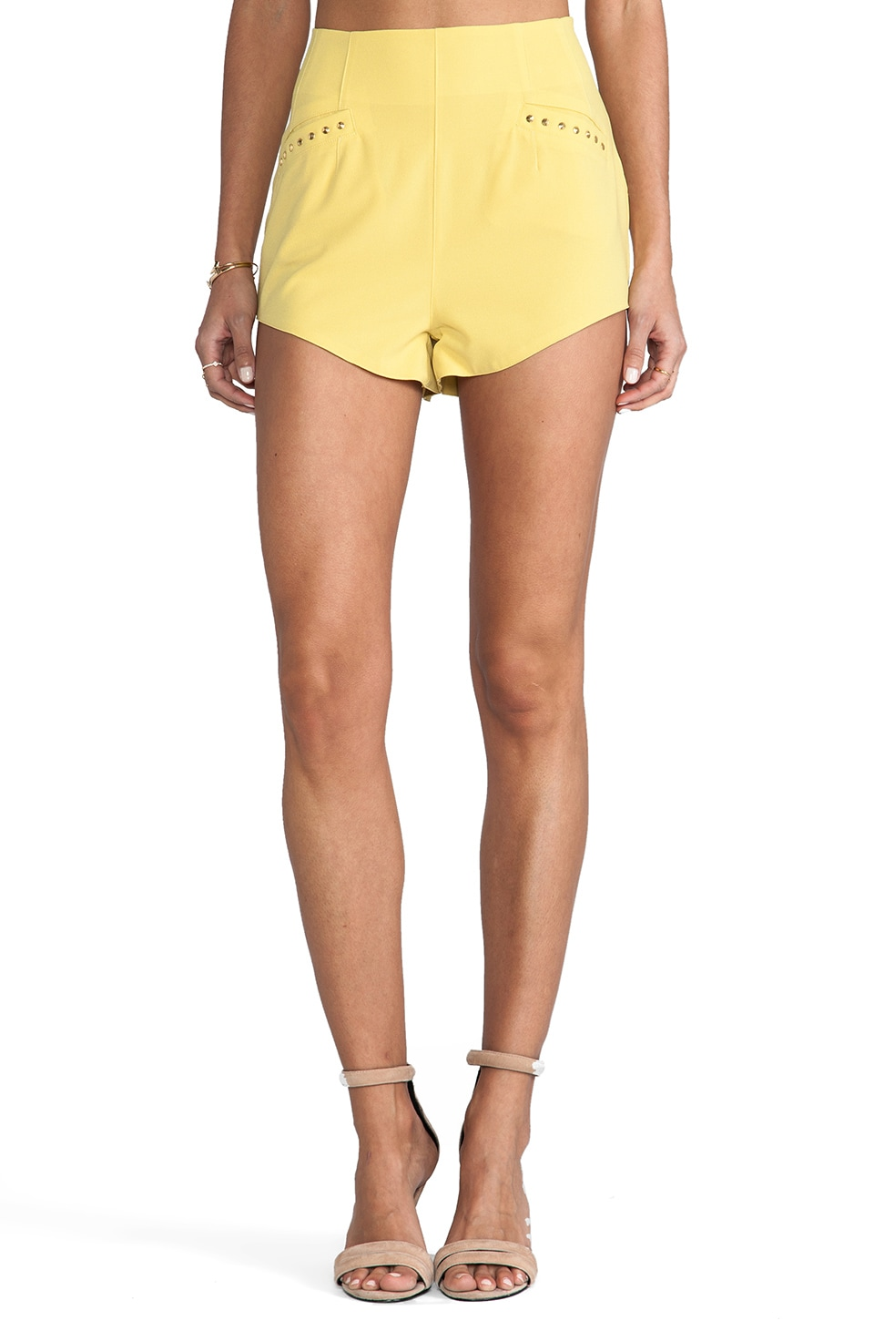 Lovers + Friends Fashionista Shorts in Citrus