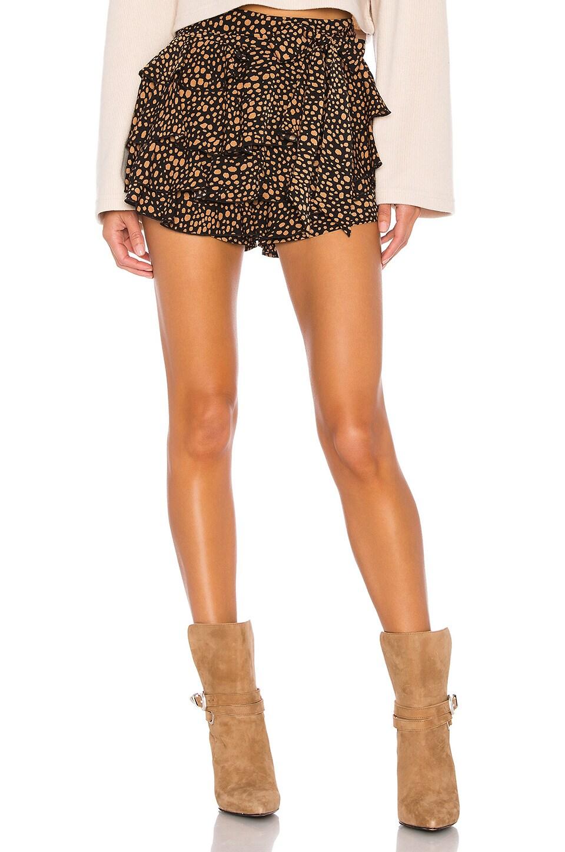 Lovers + Friends Gayle Skort in Black Leopard