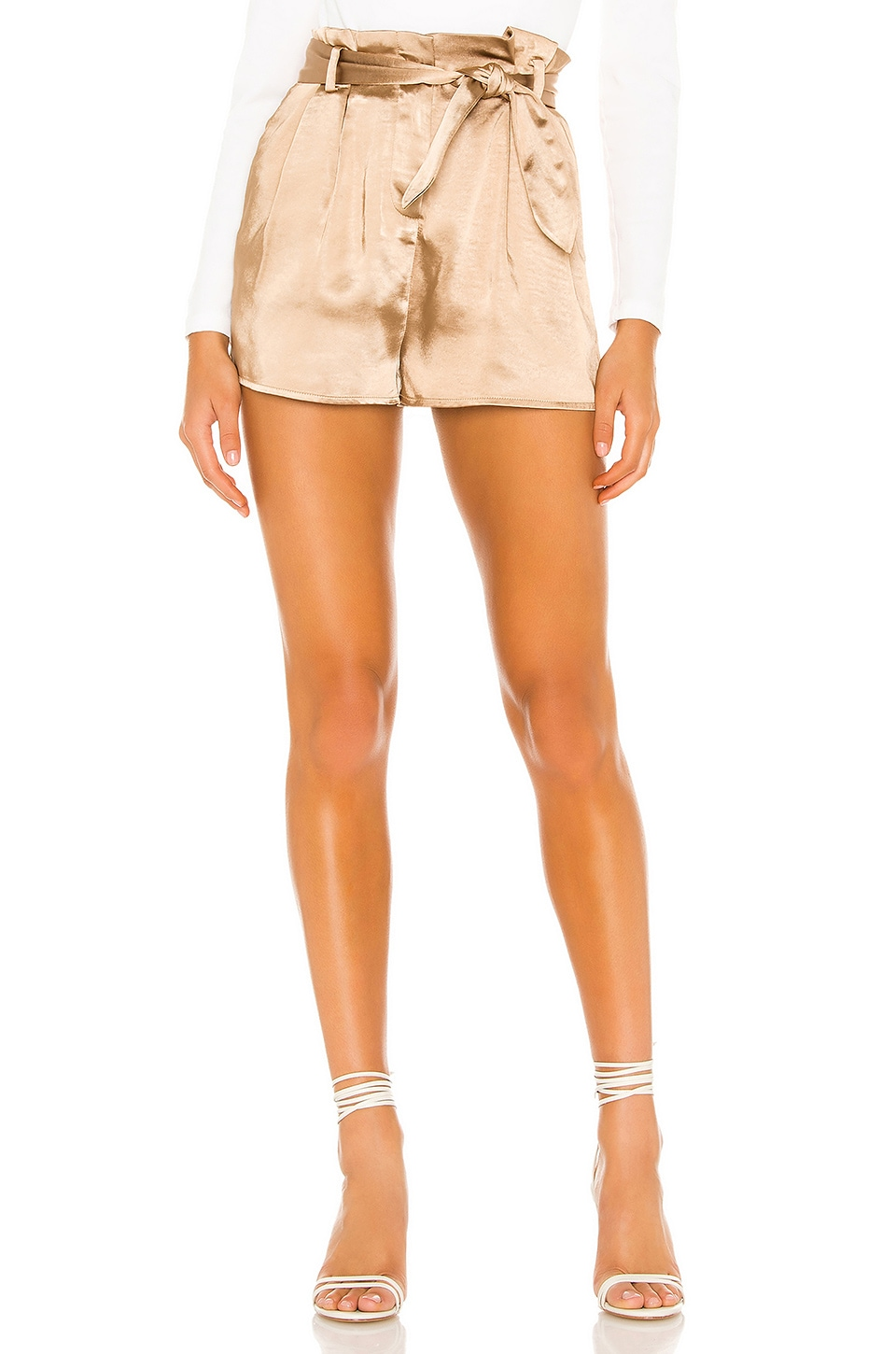 Lovers + Friends Overland Short in Gold