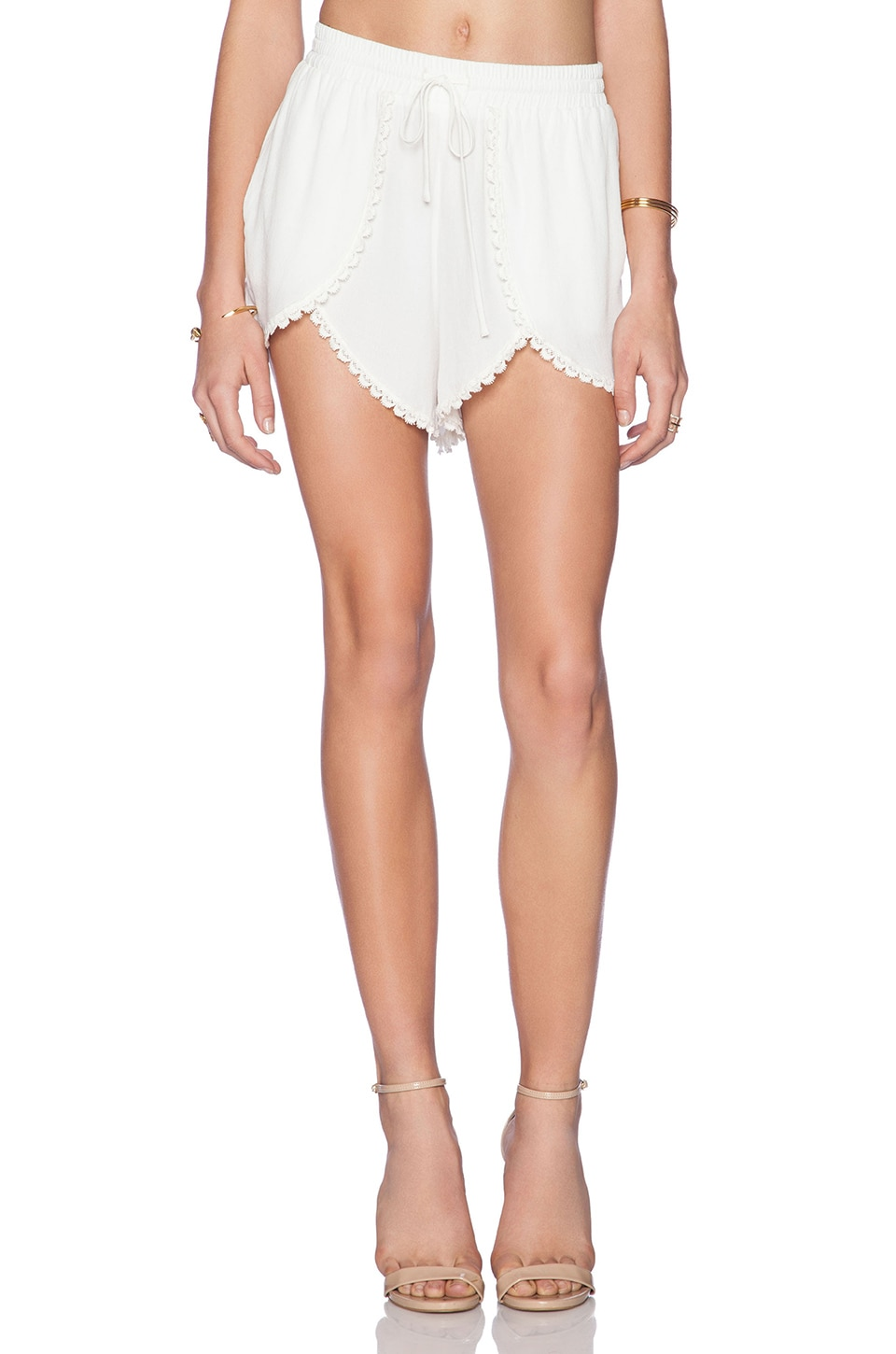 Lovers + Friends Mariposa Shorts in Ivory