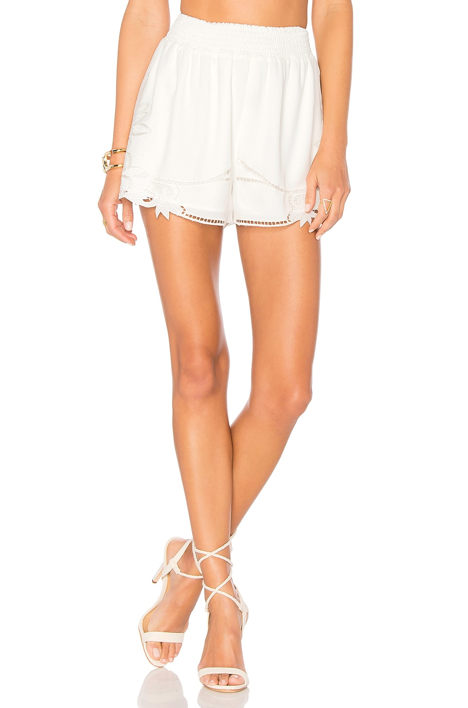 Lovers + Friends Dita Shorts in Ivory