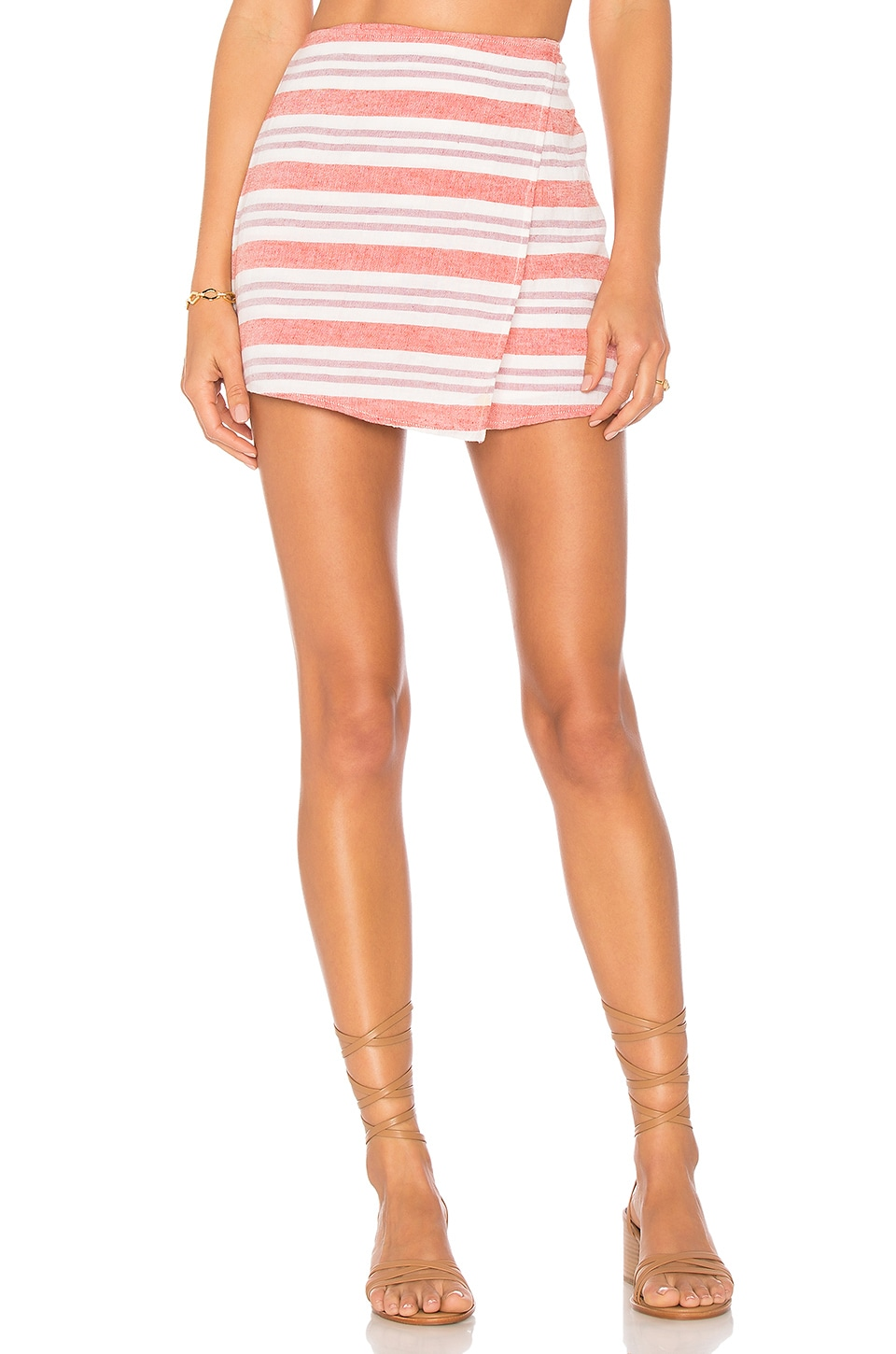 Lovers + Friends Stargazer Skort in Berry Stripe