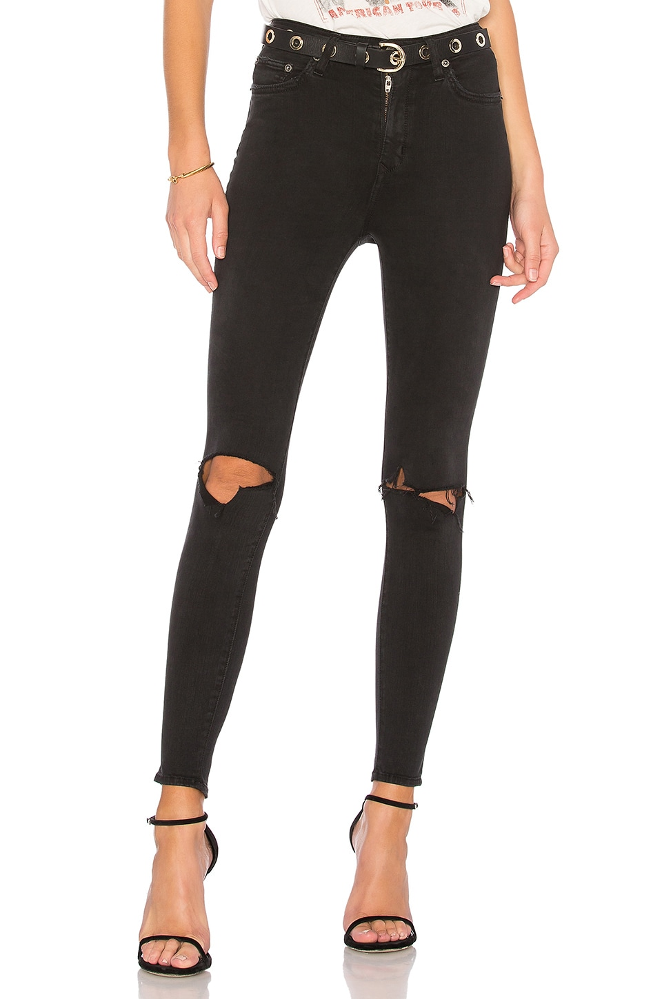 Lovers + Friends Mason High-Rise Skinny Jean in Mabrey