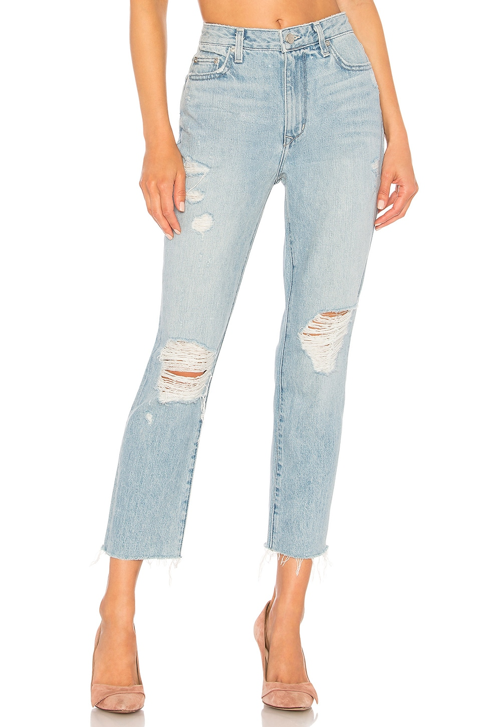 Lovers + Friends Logan High Rise Tapered Jean in Edinger