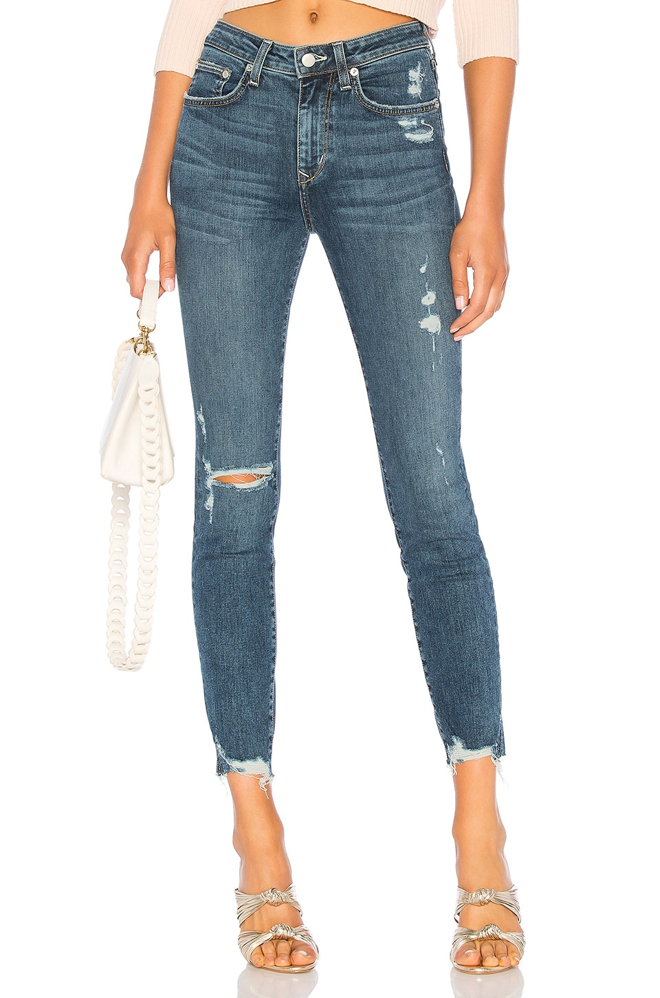 Lovers + Friends Mason High-Rise Skinny Jean in Naples