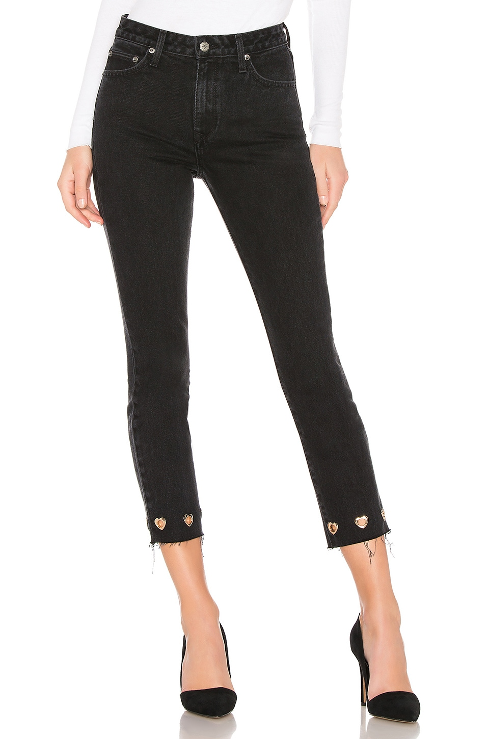 Lovers + Friends Logan High-Rise Tapered Jean in Palisade