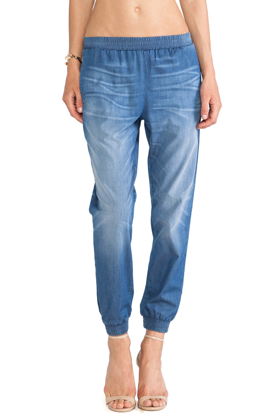 Lovers + Friends Max Denim Jogger in Highland