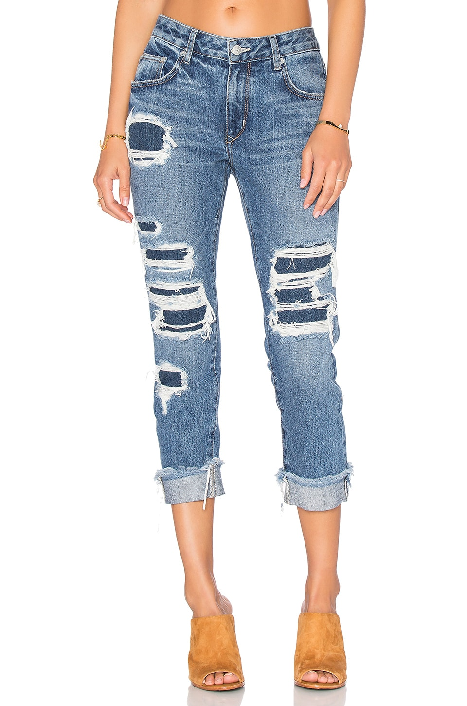 Lovers + Friends Ezra Slim Boyfriend Jean in Cypress