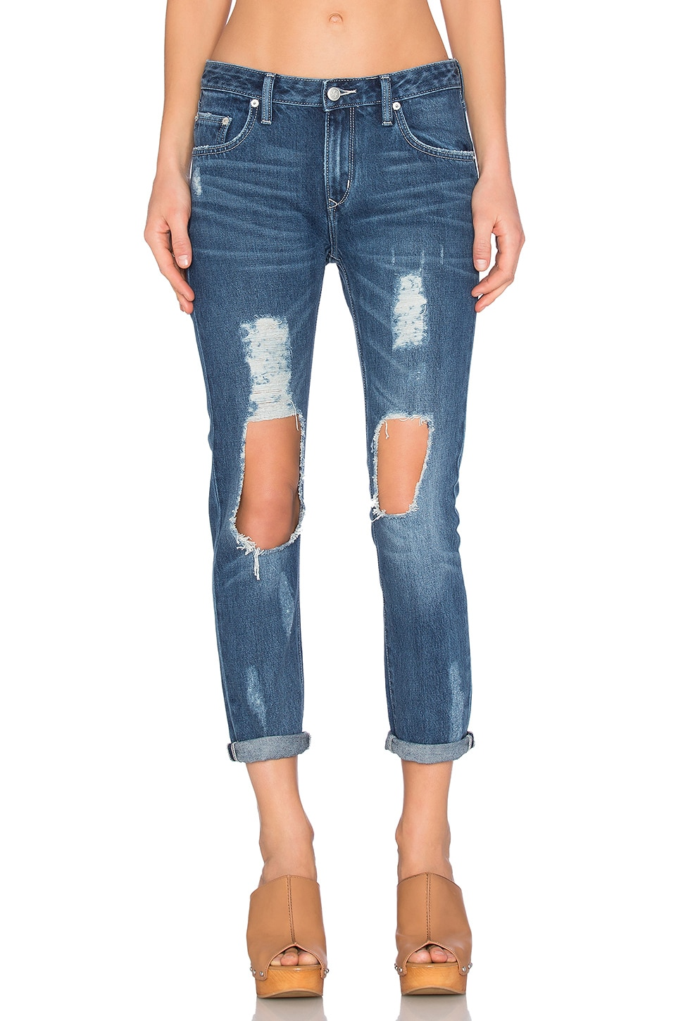 Lovers + Friends Ezra Distressed Jean in Lexington