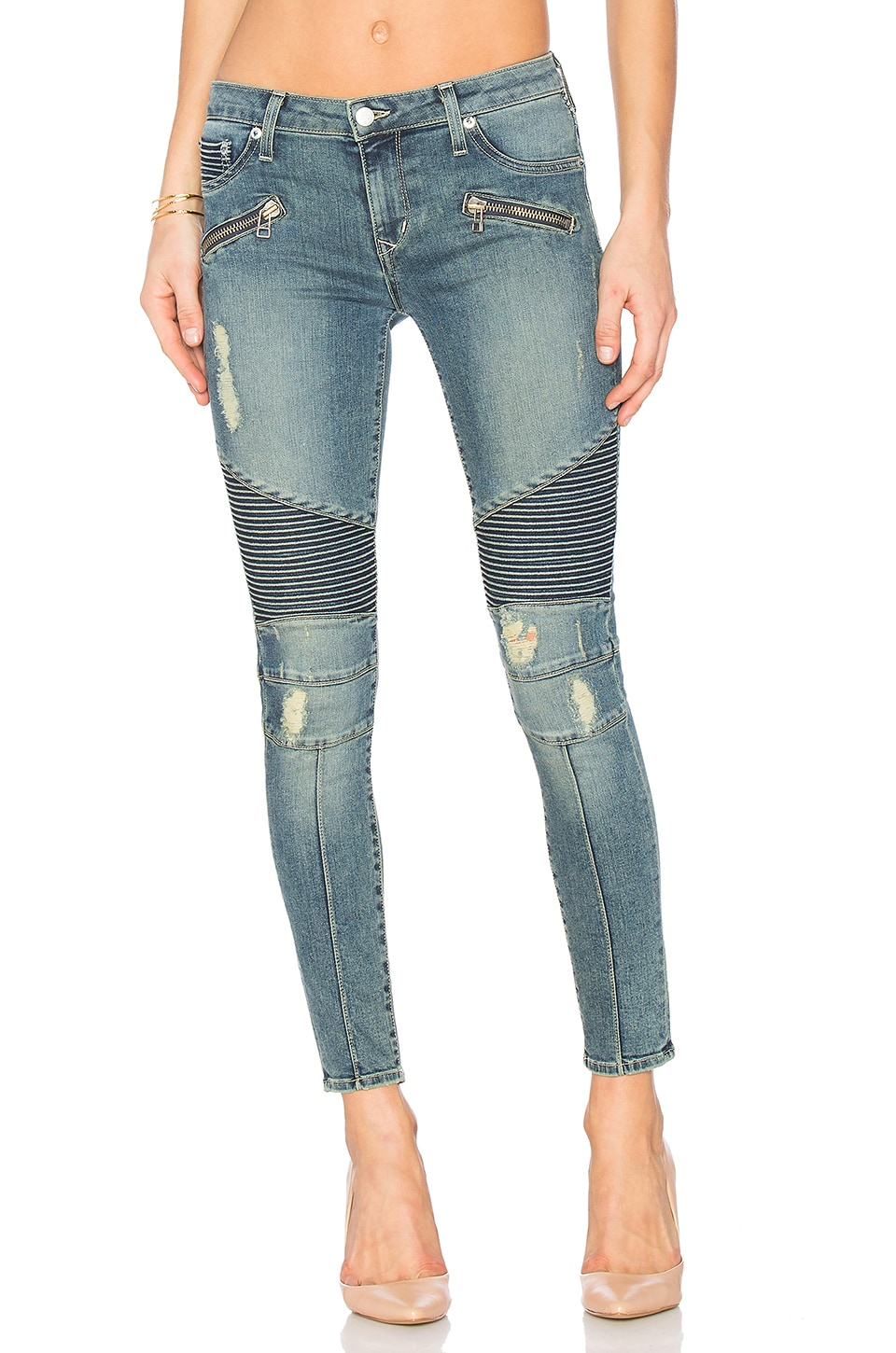 Lovers + Friends x REVOLVE PETITE Aaron Moto Skinny Jean in Culver