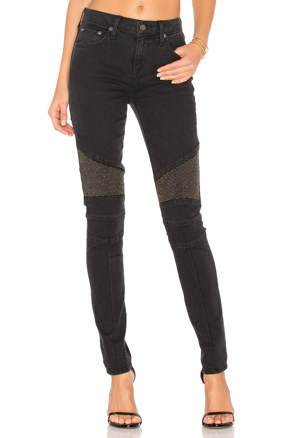 Aaron Mix Moto Skinny Jean by Lovers + Friends