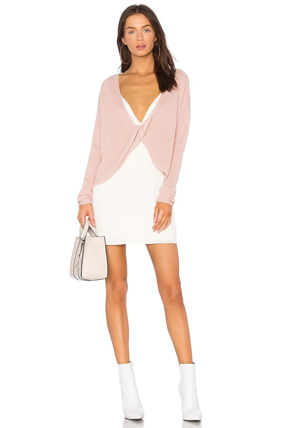 Lovers + Friends Spring Sweater in Dusty Rose