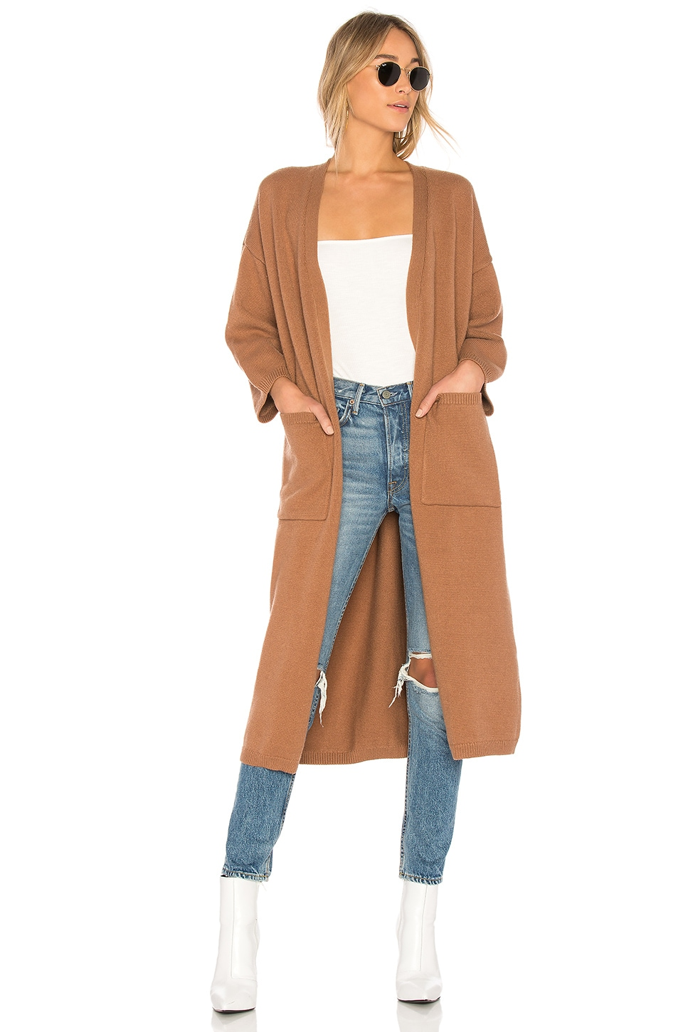 Lovers   Friends Relaxin Sweater Cardigan in Camel | REVOLVE