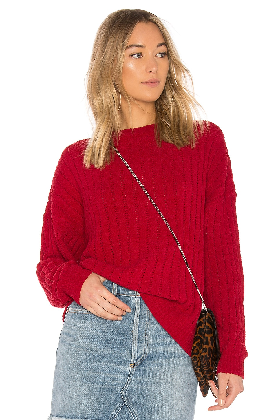 Lovers + Friends x REVOLVE Crescent Sweater in Red