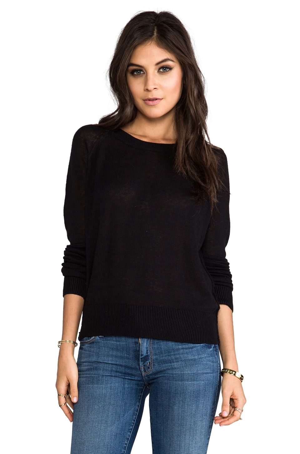 Lovers + Friends for REVOLVE Jordan Pullover in Black