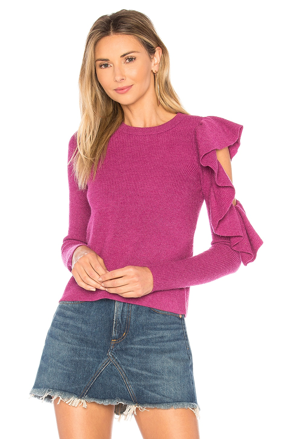 Lovers + Friends Boss Woman Top in Fuchsia