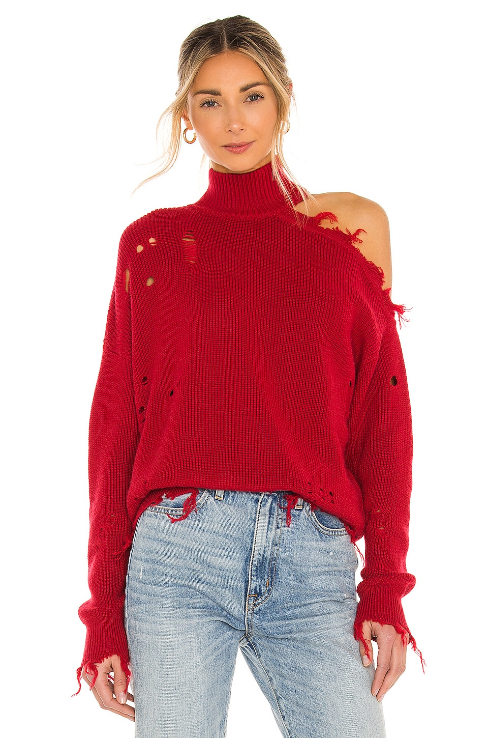 Lovers + Friends Arlington Sweater in Red