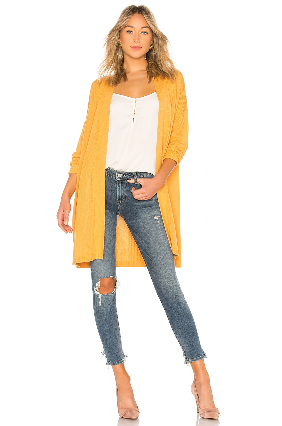 Lovers + Friends Rachel Cardigan in Marigold