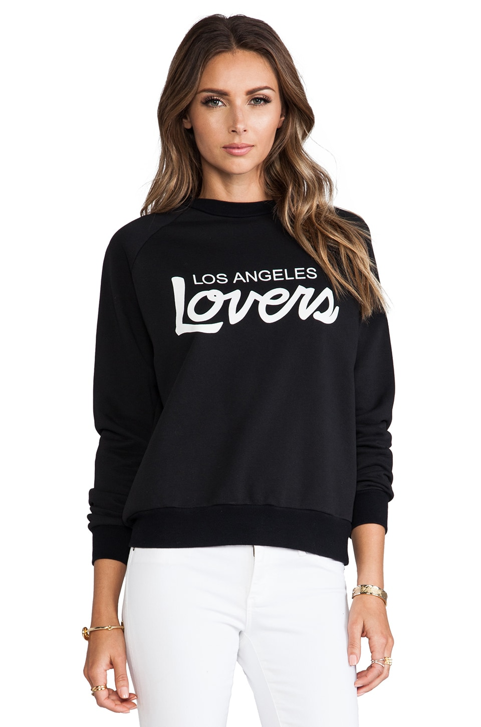 Lovers + Friends Laidback Pullover in Black