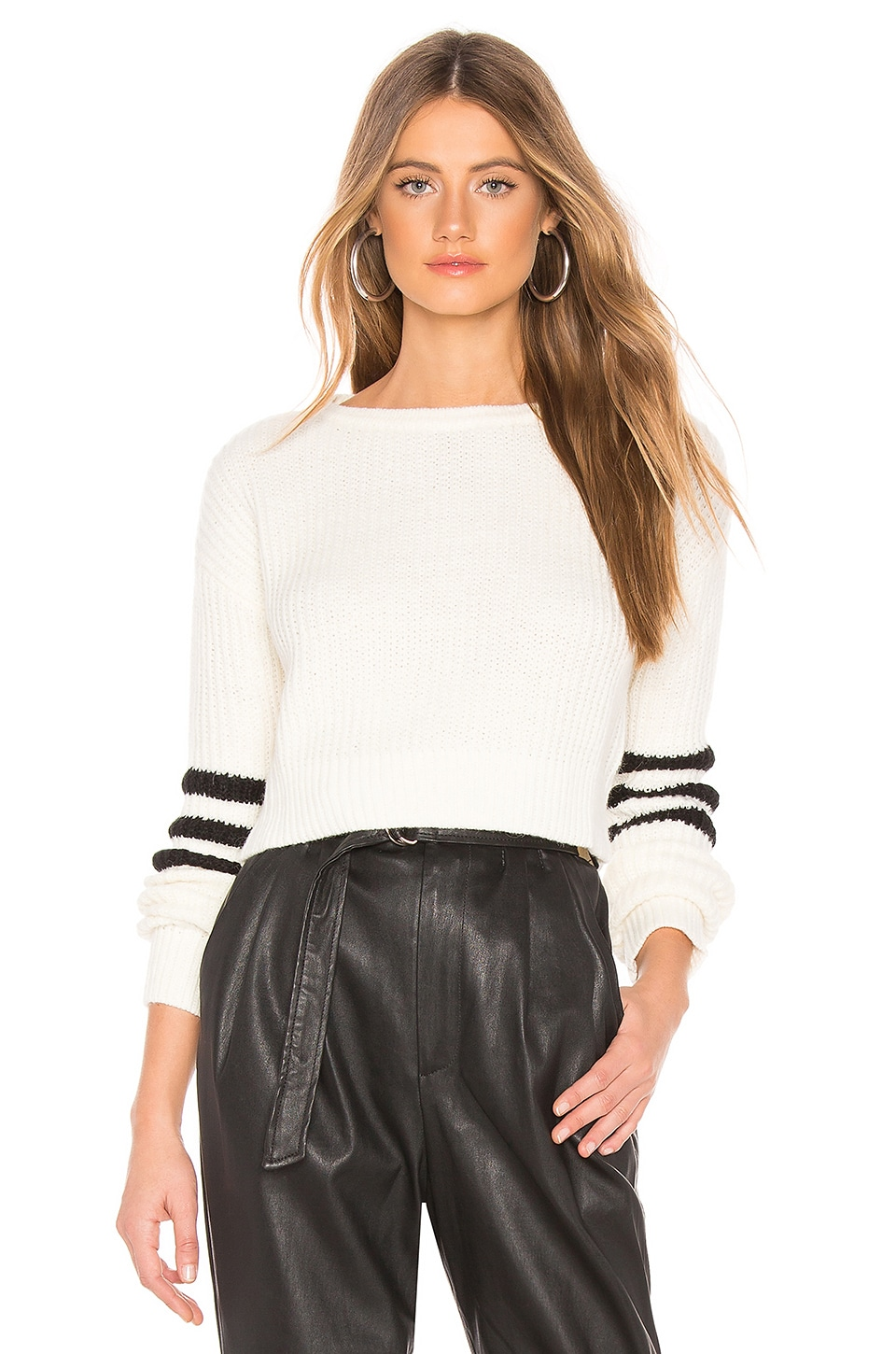 Lovers + Friends Val Sweater in Ivory & Black