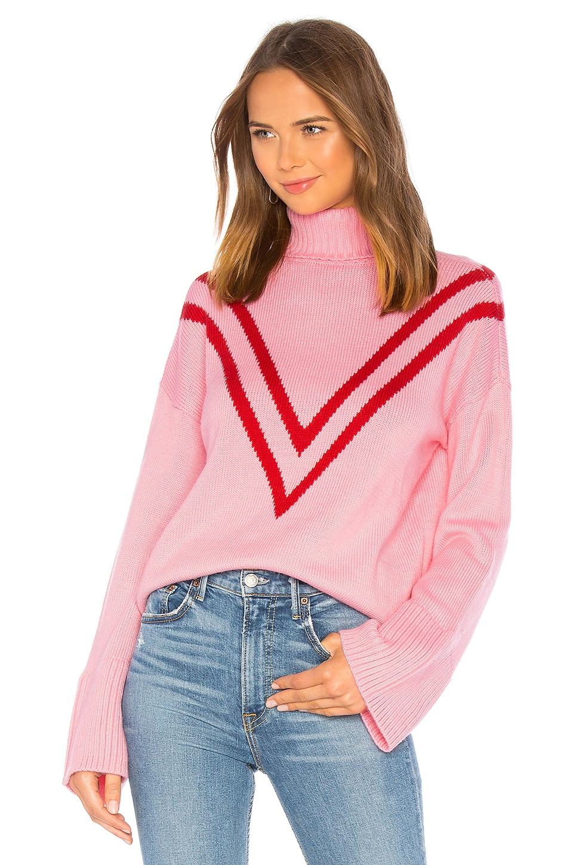 Lovers + Friends Caroline Sweater in Pink & Red