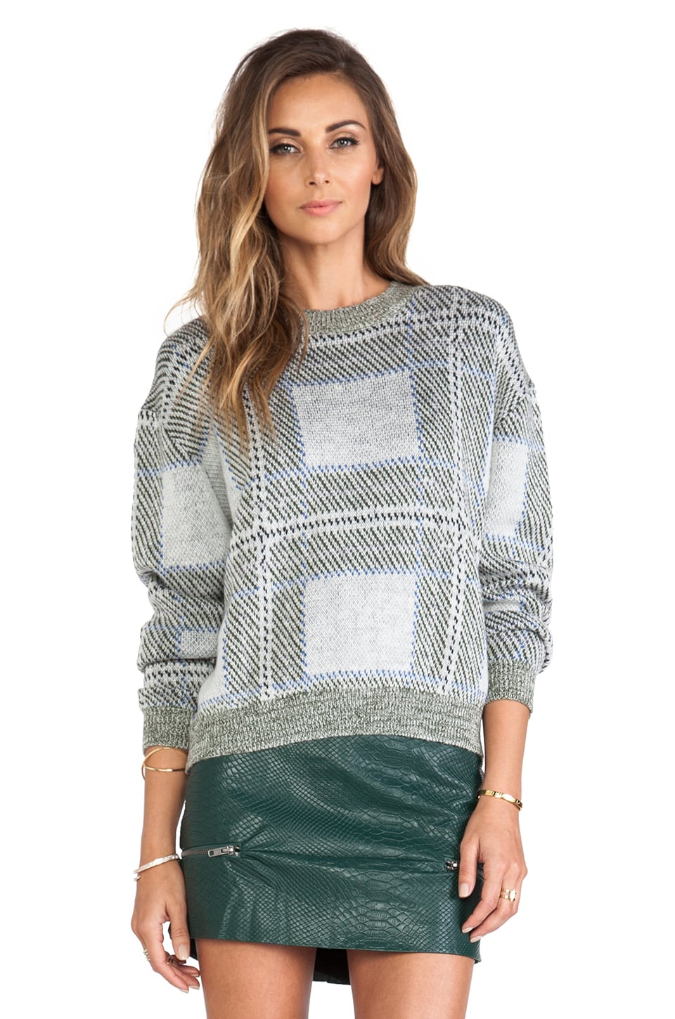 Lovers + Friends Kate Pullover in Plaid