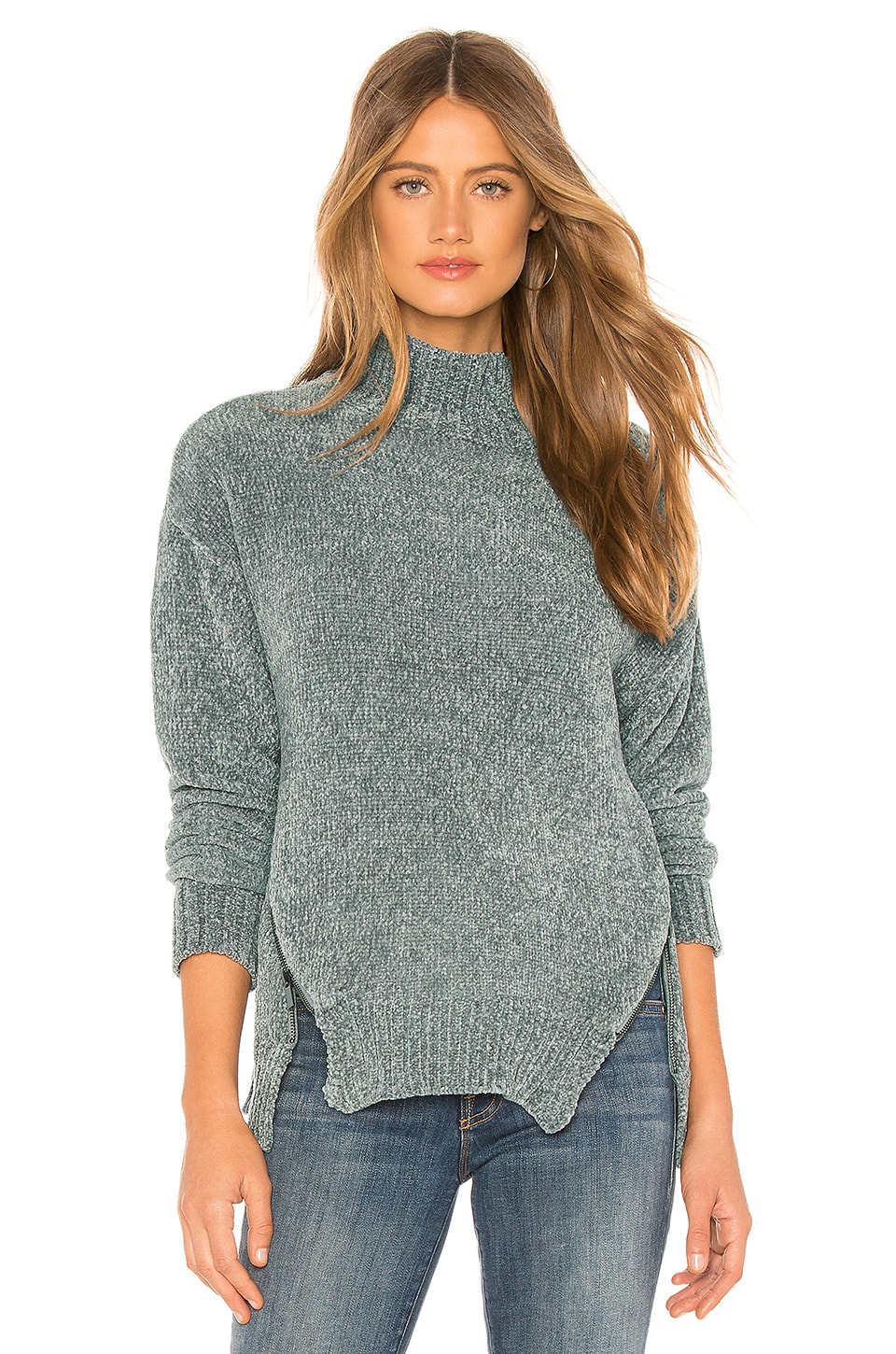 Lovers + Friends Delridge Chenille Sweater in Heather Grey