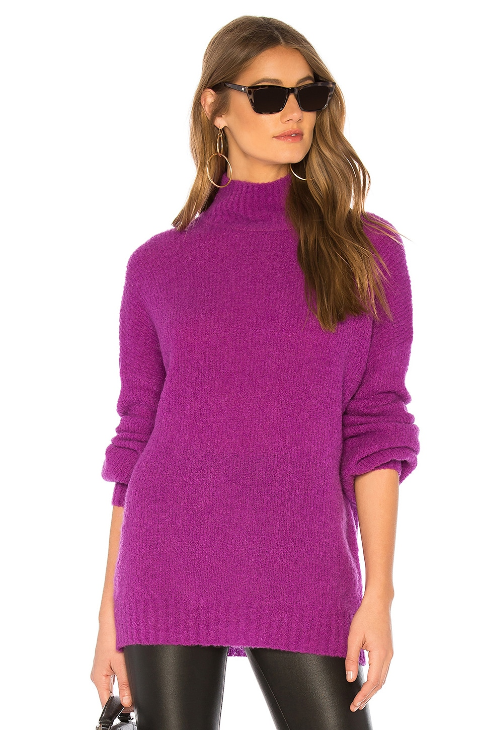 Lovers + Friends Independent Sweater in Magenta