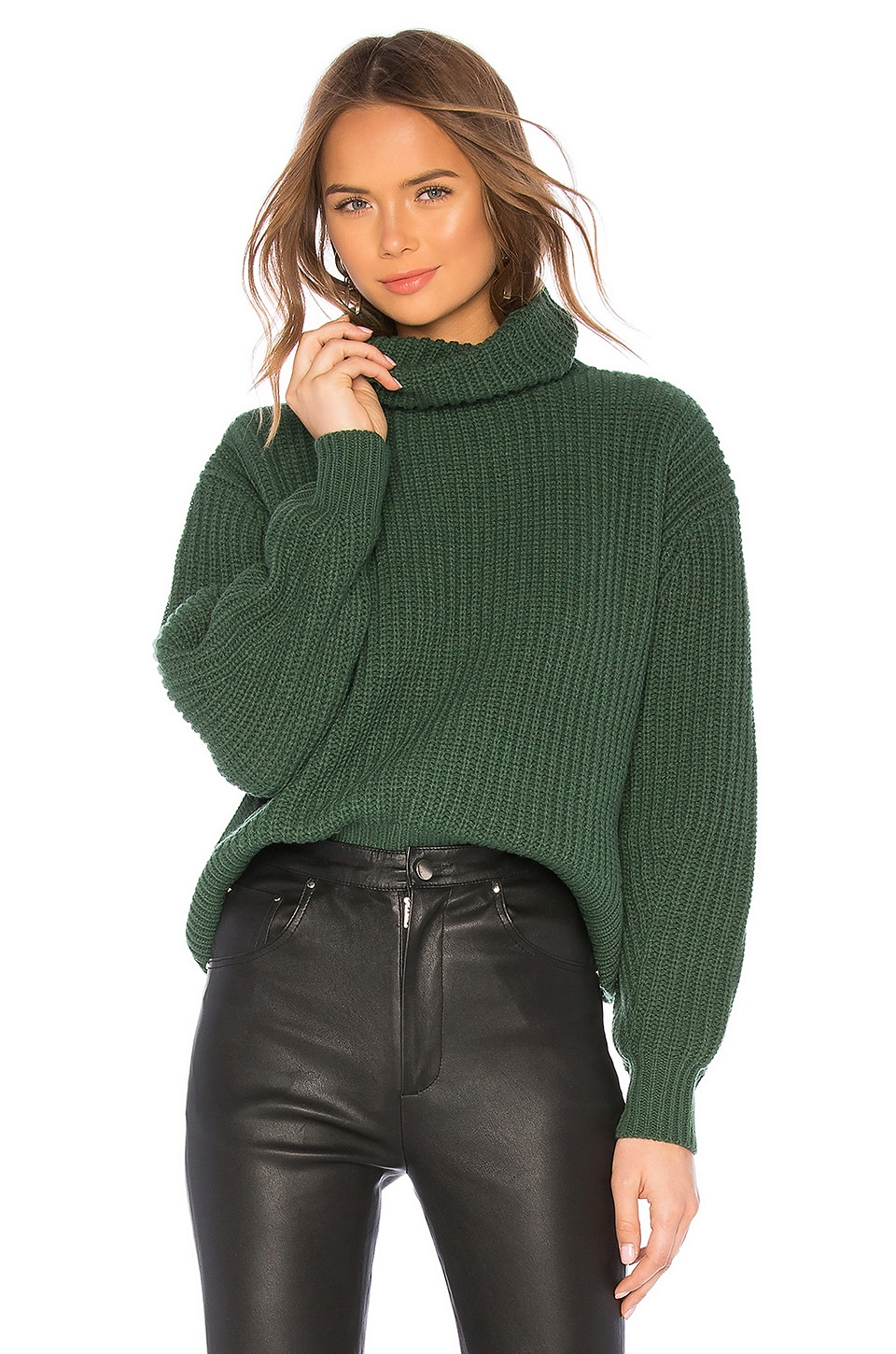 Lovers + Friends Quin Sweater in Emerald Green