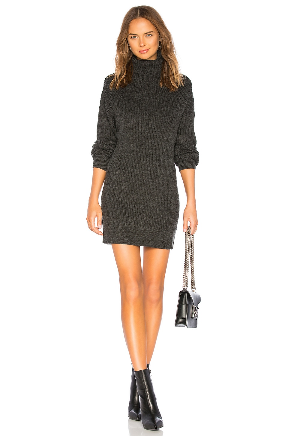 Lovers + Friends Helena Oversized Sweater in Charcoal