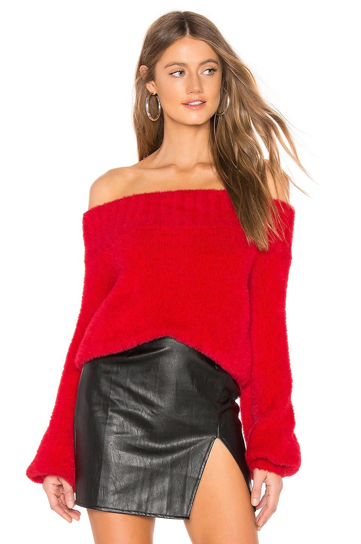 Lovers + Friends Elsa Sweater in Red