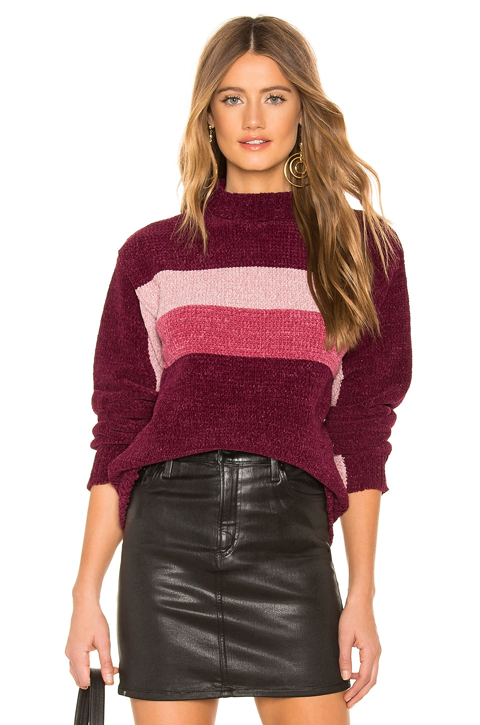 Lovers + Friends Raye Chenille Sweater in Tonal Pink