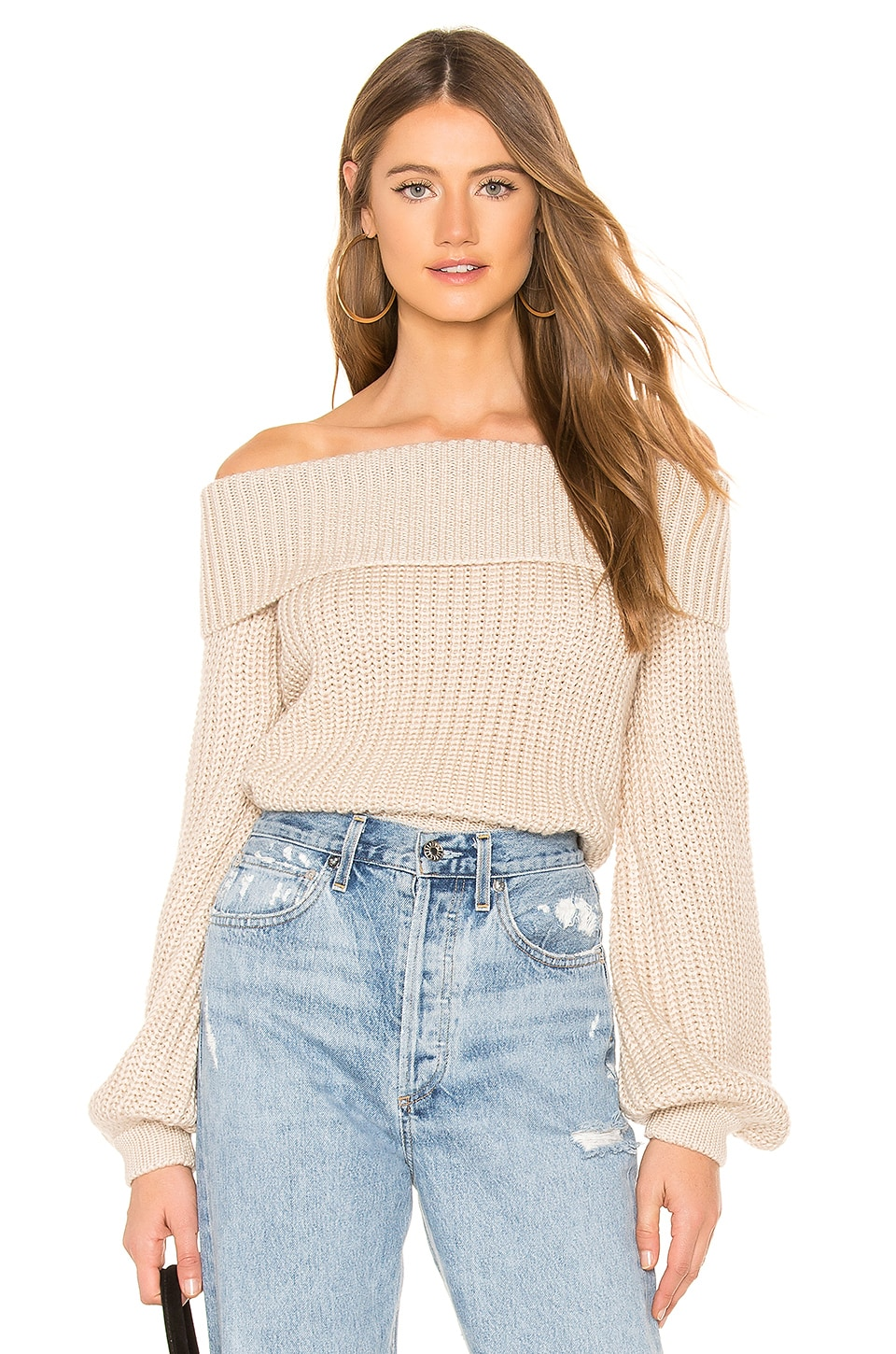Lovers + Friends Honor Sweater in Almond