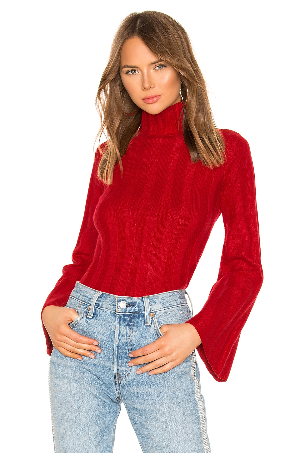 Lovers + Friends Taytay Sweater in Red
