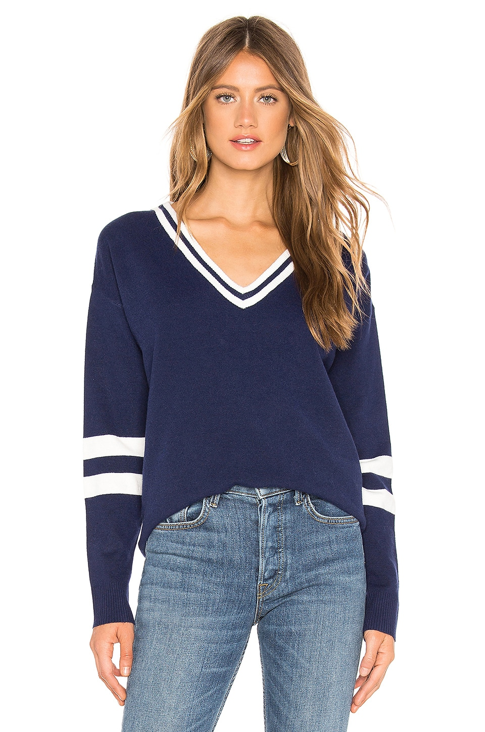 Lovers + Friends Rugby Sweater in Navy
